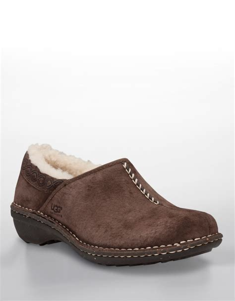 shearling lined sneakers ugg bettey shearling lined shoes in brown chocolate suede