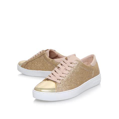 michael kors house shoes frankie sneaker michael michael kors frankie gold leather flat sneakers by michael michael kors