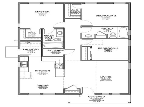 Small 3 Bedroom House Floor Plans Small 3 Bedroom Floor Plans Small 3 Bedroom House Floor Plans House Plan Small Mexzhouse