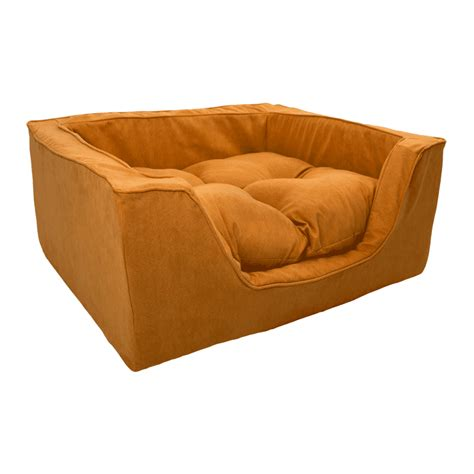 luxury pet beds snoozer luxury square dog bed w microsuede overstuffed