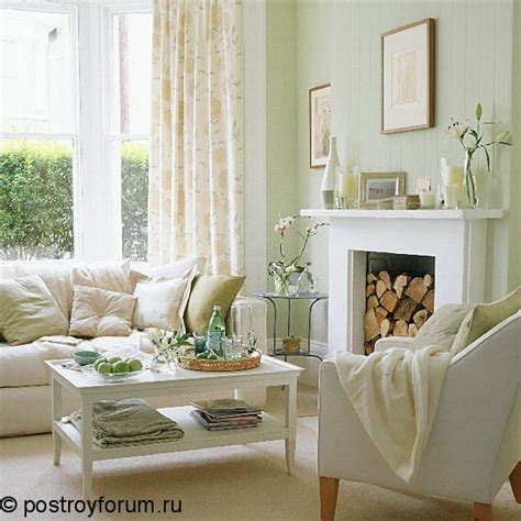 White And Green Living Room Ideas by