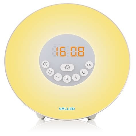wake  light alarm clock sunrise simulation alarm clock