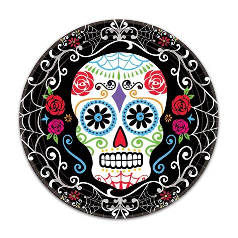 sugar skull paper plates day of the dead paper plates