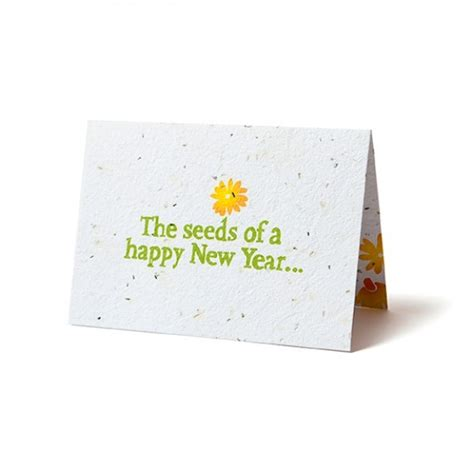 New Year Paper Folding - seed paper folding cards custom plantable printed cards