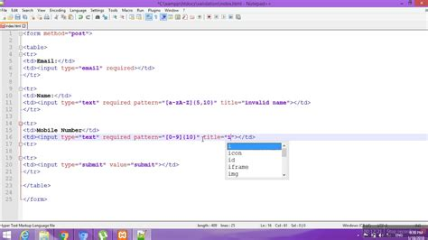 html5 pattern validation not working client side form validation with html5 video tutorial 118