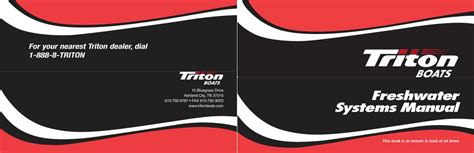 triton boats owners manual muddy bay owners manuals