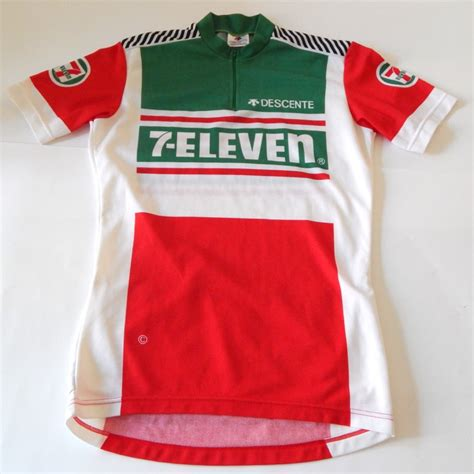 vintage retro nos descente 7 eleven cycling jersey 38