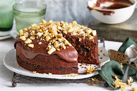 chocolate olive oil and walnut cake better homes and gardens