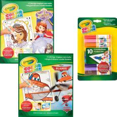 crayola giant coloring pages sofia the first crayola kleurboekset color wonder planes en sofia the