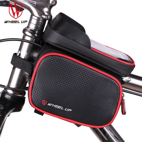 Wheel Up Smartphone Holder Sepeda Waterproof 6 Inch wheel up new 6 2 inch waterproof touch screen bike bag front frame top cell phone tpu cycling