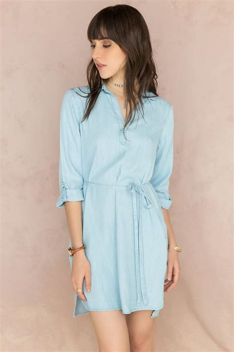 Tk Dress Pocket Sofie Gil Batik karyn chambray shirt dress s