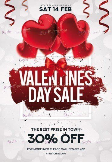 Valentines Day Flyer Template