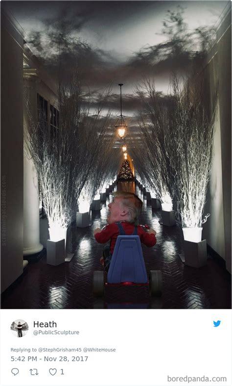 Trump White House Decoration by 30 Hilarious Reactions To Melania Trump S Creepy White