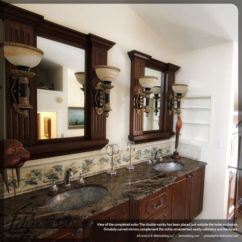 custom bathroom vanity mirrors custom double vanity with carved mirrors
