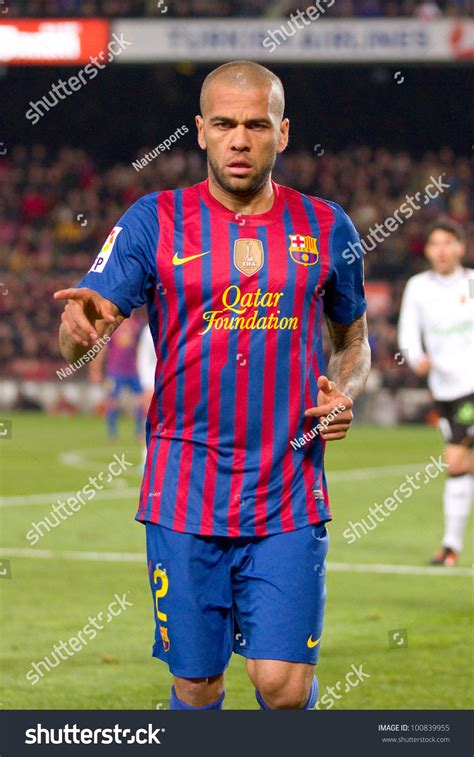 barcelona in february barcelona february 2 dani alves in action during the