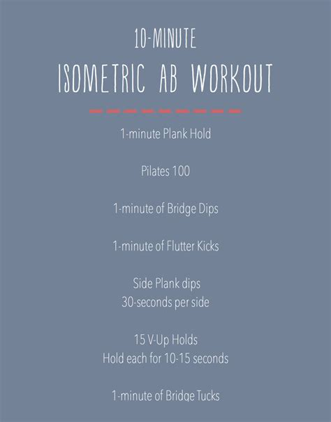 minute isometric ab workout fitness workout