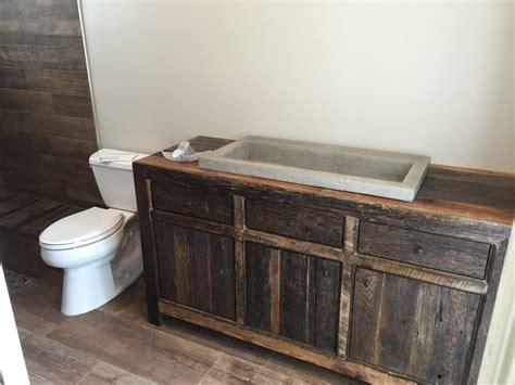 robbie s rustic reclaimed wood bathroom vanity fama