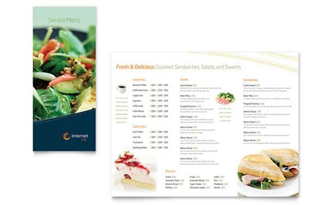 cafe menu template free free restaurant menu templates sle restaurant menus