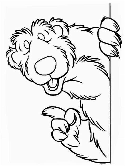 bear in the big blue house pages coloring pages