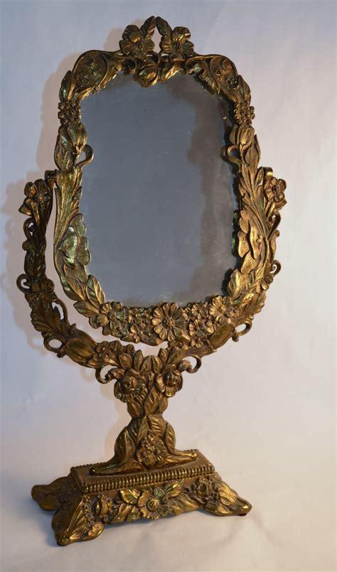 Antique Vanities With Mirror by Vintage Ornate Antique Gold Vanity Mirror