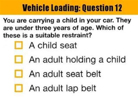 driving theory test sections download link youtube quot section 2 vehicle loading