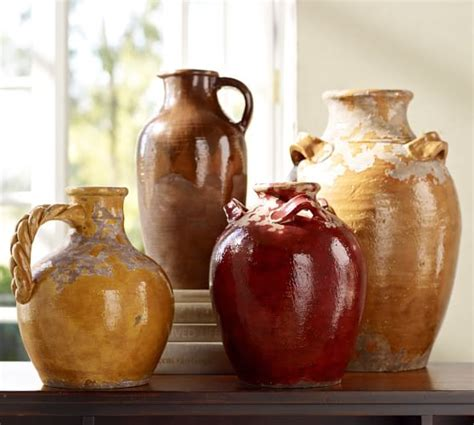 decorating with pottery sicily terra cotta vases pottery barn