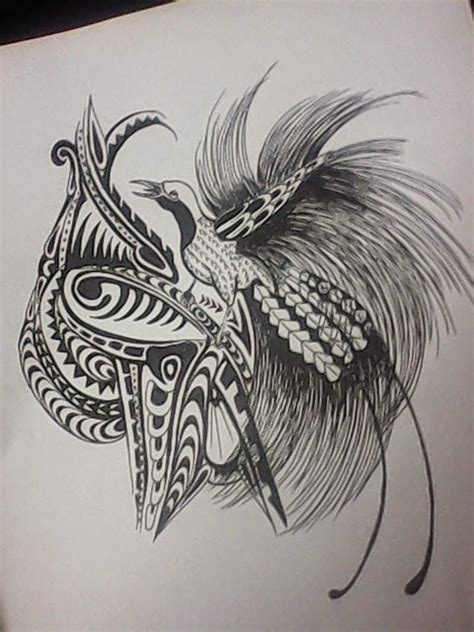 papua new guinea tribal tattoos bird of paradise designs of papua new guinea papua new