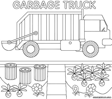 garbage truck coloring pages coloring pages to download