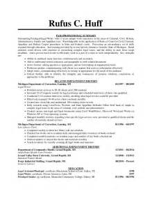 paralegal resume sle resumes design