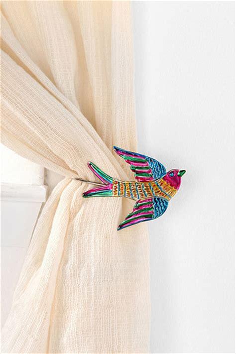 fancy curtain tie backs bird design cosy home blog