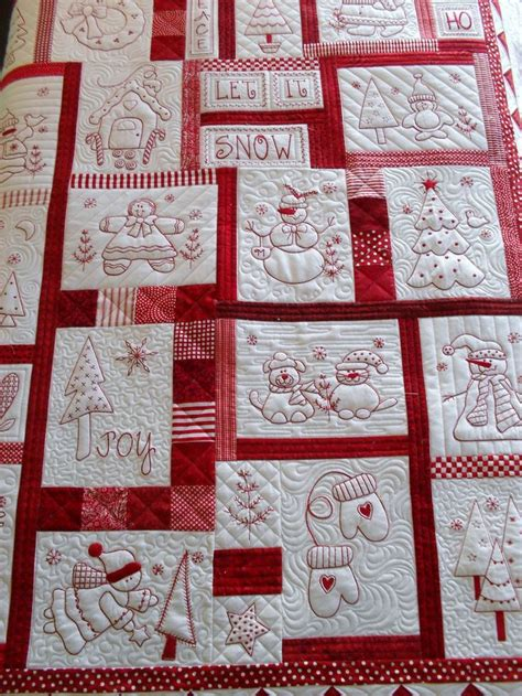 Redwork Quilt by Redwork Quilt I To Make This Quilting