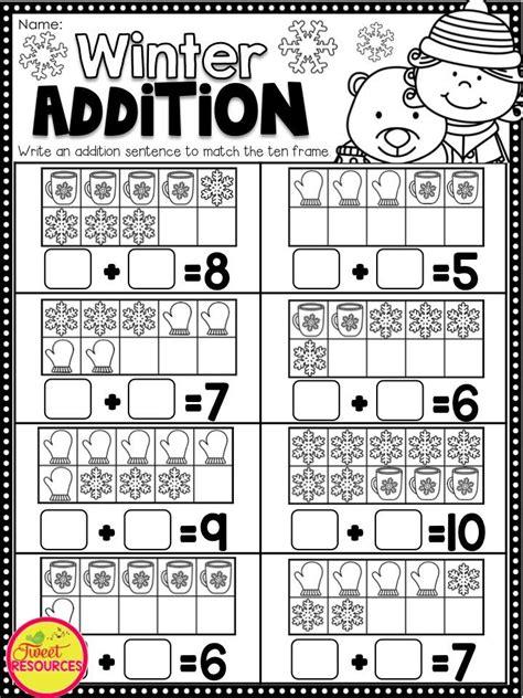 printables for kindergarten classroom winter activities for kindergarten math and literacy no