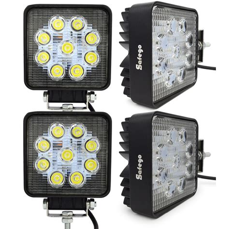 12 volt led tractor lights 4 x 4 inch 27w led worklights external l 24v 12v led