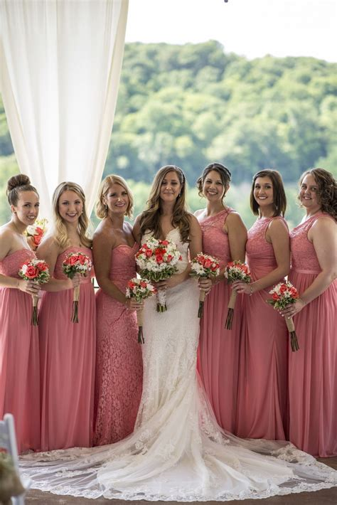 summer wedding summer wedding coral bridesmaids dresses david s bridal