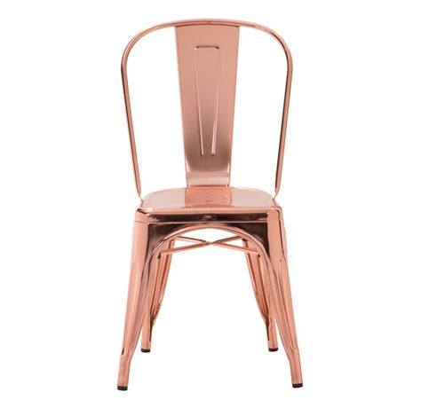 rose gold desk chair zuo era vintage elio dining chair rose gold 108061