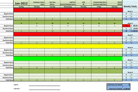 free excel timesheet template employees timesheet templates excel for employee management