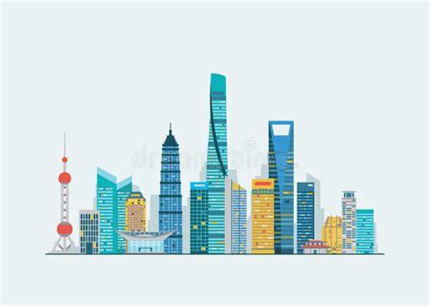 Shanghai Clip shanghai abstract skyline stock vector illustration of