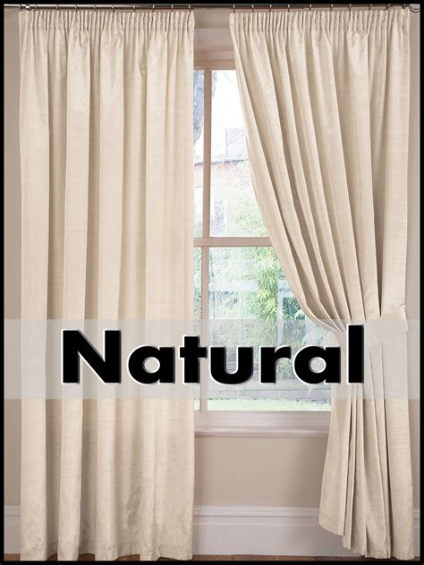 premium curtains pair faux silk premium quality 3 quot tape top fully lined