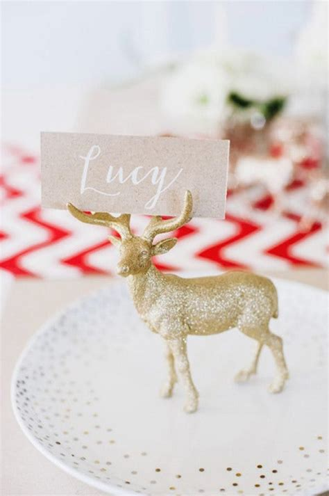 10 ideas for christmas place card holders the bright 25 diy ideas for setting the perfect christmas table