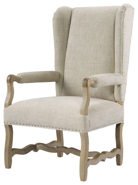 Upholstered Armchairs by Wing Upholstered Armchair Linen Traditional