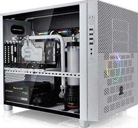 Cube Gaming Iklo White Acrylic Window Gaming Chassis thermaltake x5 tempered glass snow edition cube white cube pc sgcc tempered glass atx