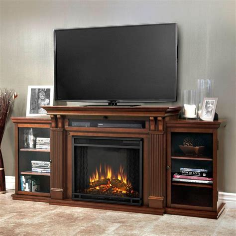 electric fireplace espresso real calie entertainment 67 in media console