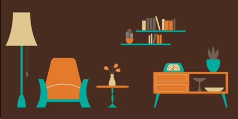 how to design a room how to create an easy living room scene in illustrator