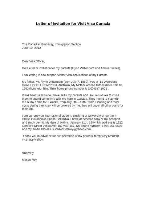 Support Letter For Visa Australia Invitation Letter For Visa Usa Reglementdifferend