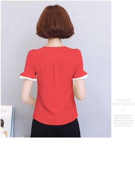 Blouse Cantik blouse merah cantik model terbaru murah myrosefashion