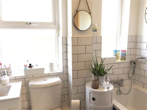 Grout Bathroom by White Bathroom With White Metro Tiles And Grey Grout