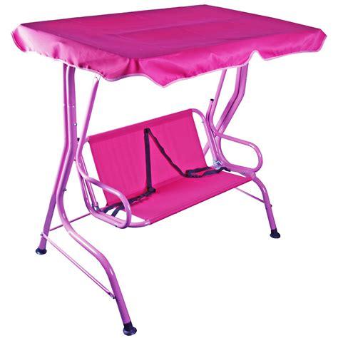 pink swing seat kids 2 seat pink garden swing hammock w saftey belts ebay