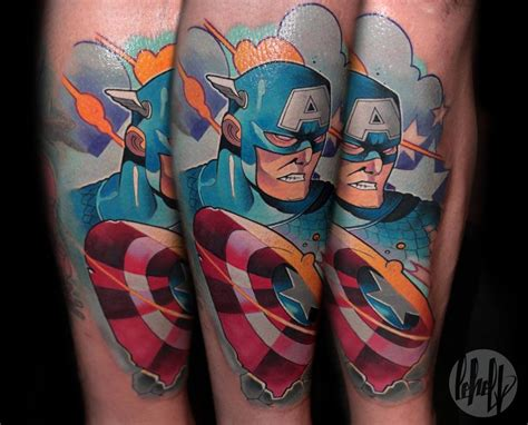 captain tattoo 105 captain america designs and ideas for marvel