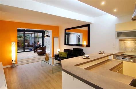 Délicieux Salon Ouvert Sur Jardin #3: Agence-Avous-Veranda-Paris-19-Bar-ouvert-sur-salon.jpg