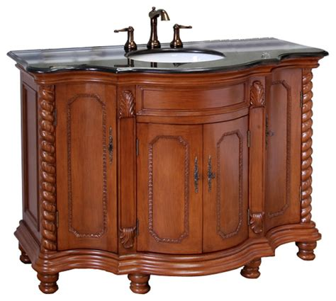 48 Inch Bathroom Vanity Light 48 Inch Single Sink Vanity Wood Light Walnut Modern Bathroom Vanities And Sink Consoles By